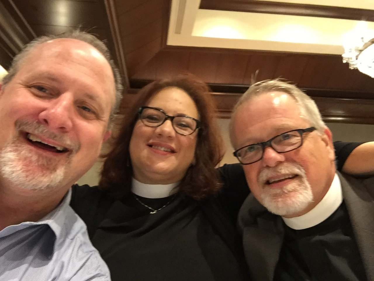 AU's Faith Outreach Specialist Bill Mefford with Rev. Lydia Munoz and Rev. Jim McIntire, both of the United Methodist Church. Photo by Bill Mefford.
