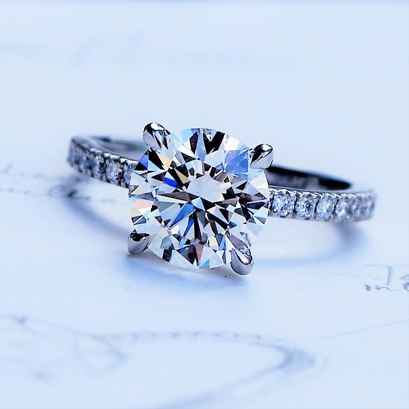 Round Brilliant Diamond in Platinum setting