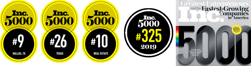 """Inc. Magazine recognized Platt Cheema Richmond PLLC on the list of """"Inc. 5000 Fastest-Growing Private Companies"""" for 2019. Our rankings show PCR is an industry leader for entrepreneurs with business legal needs: 325th of 5000 total honorees. 10th of all Real Estate honorees. 9th of 190 DFW honorees."""