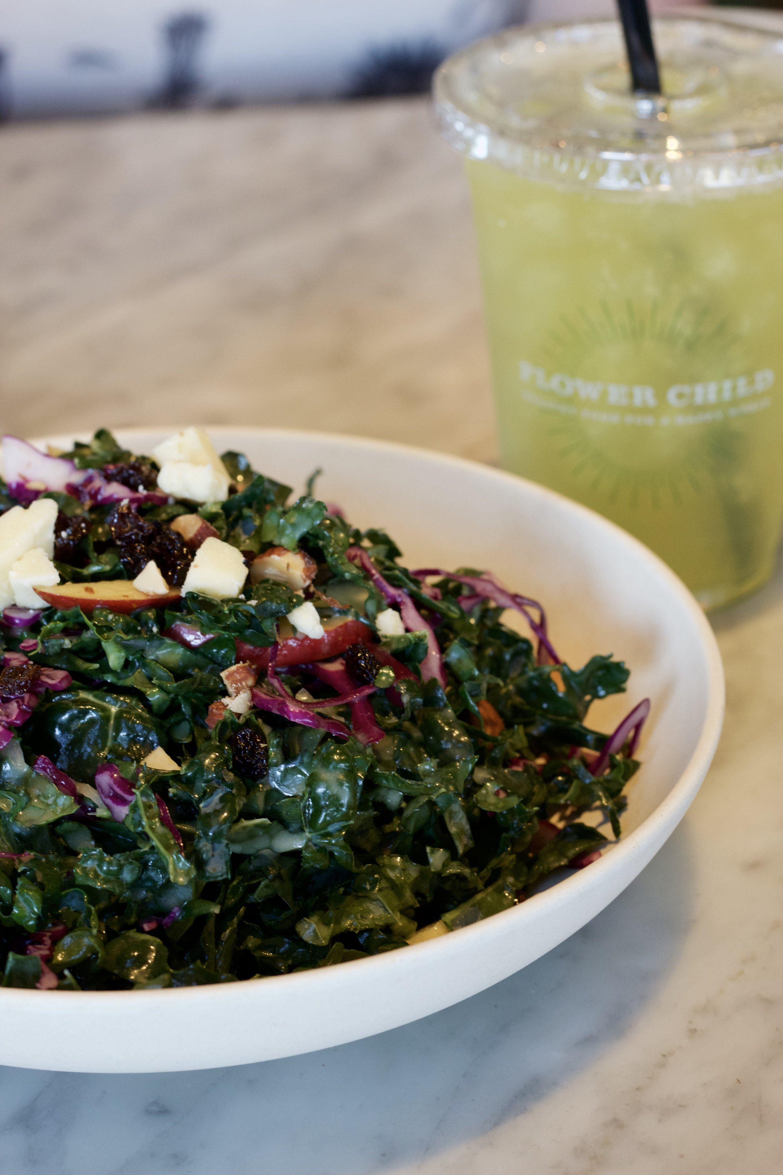 Samantha McNeil Blog Flower Child Kale Salad