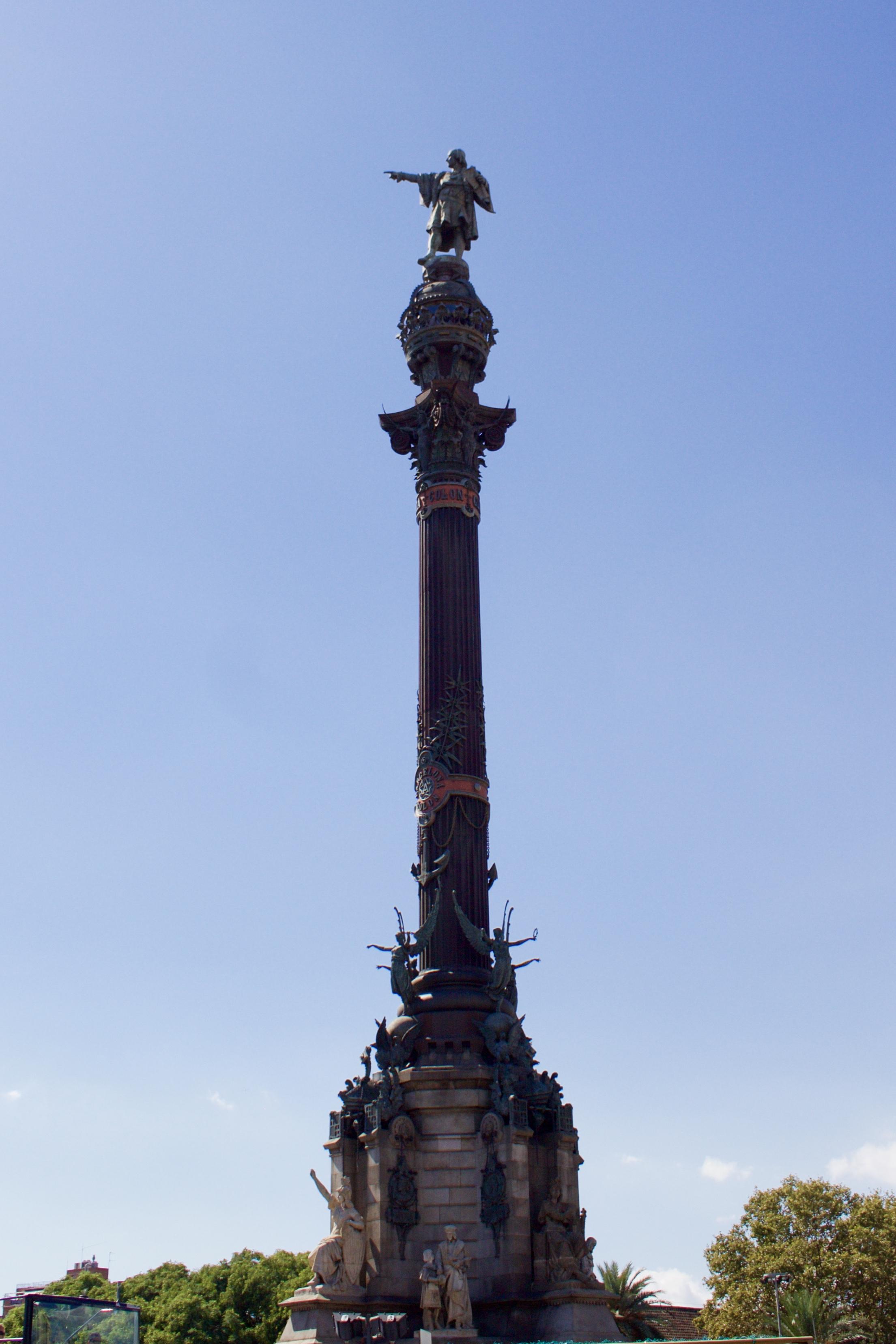 Samantha McNeil Blog Colom Monument Barcelona