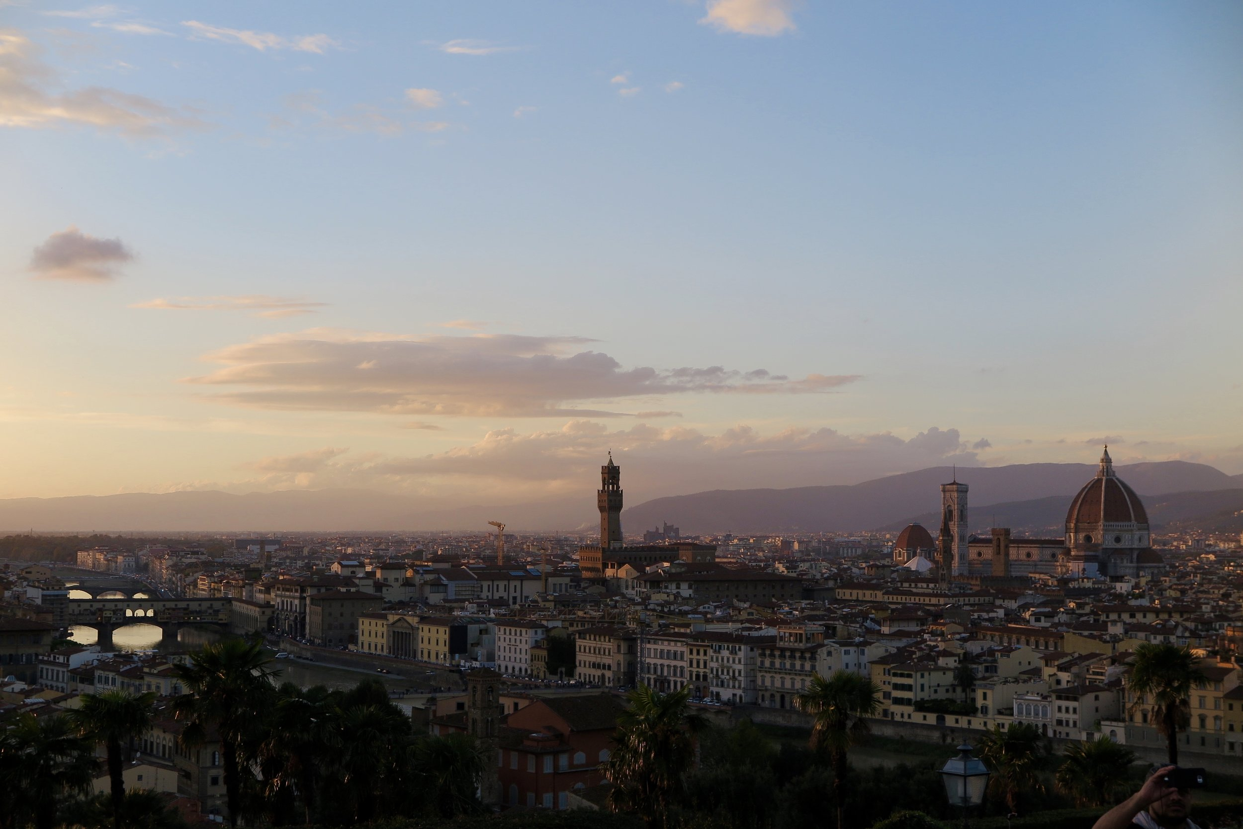 Samantha McNeil Blog - Sunset at Piazzale Michelangelo Florence