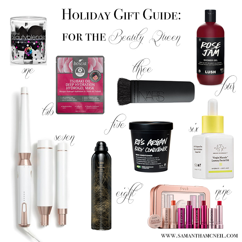 Samantha McNeil Blog - Holiday Gift Guide for the Beauty Queen