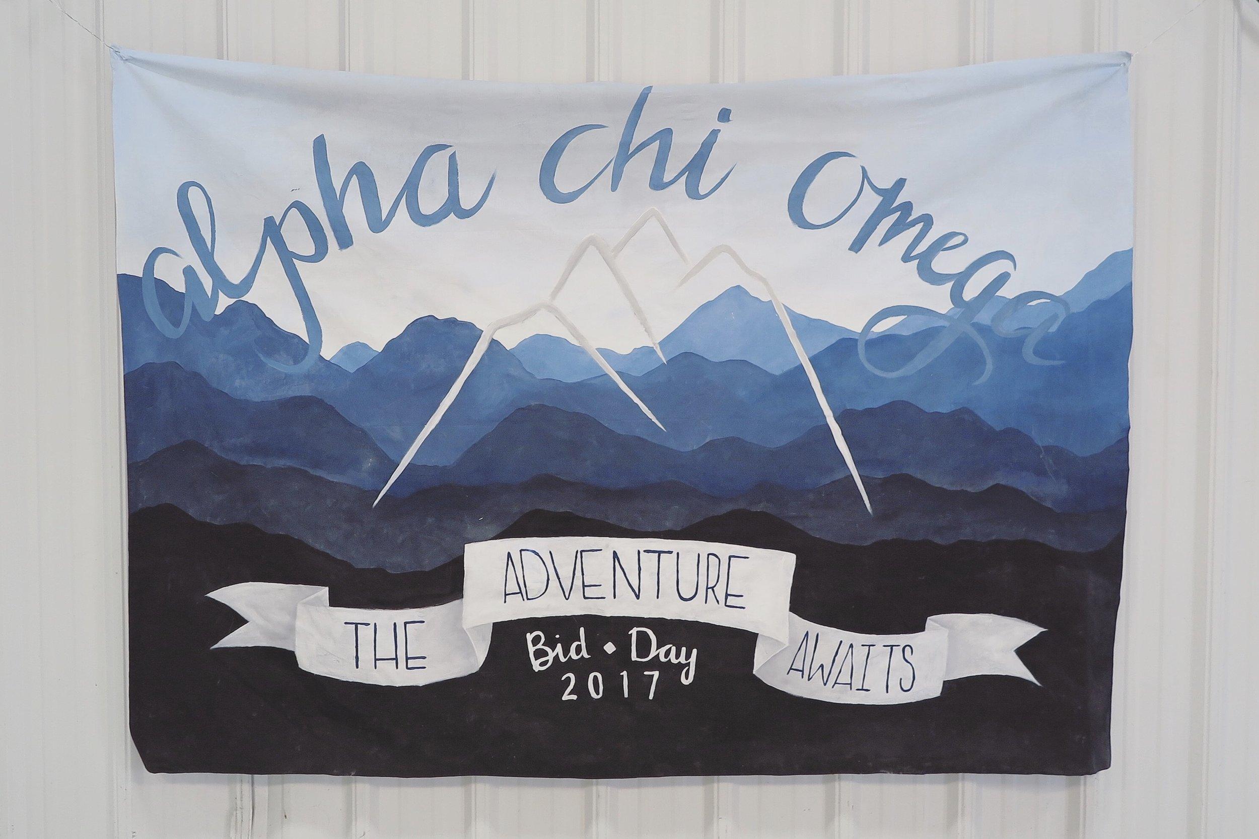 Alpha Chi Omega // Kappa Omicron // Bid Day 2017 // Samantha McNeil Blog