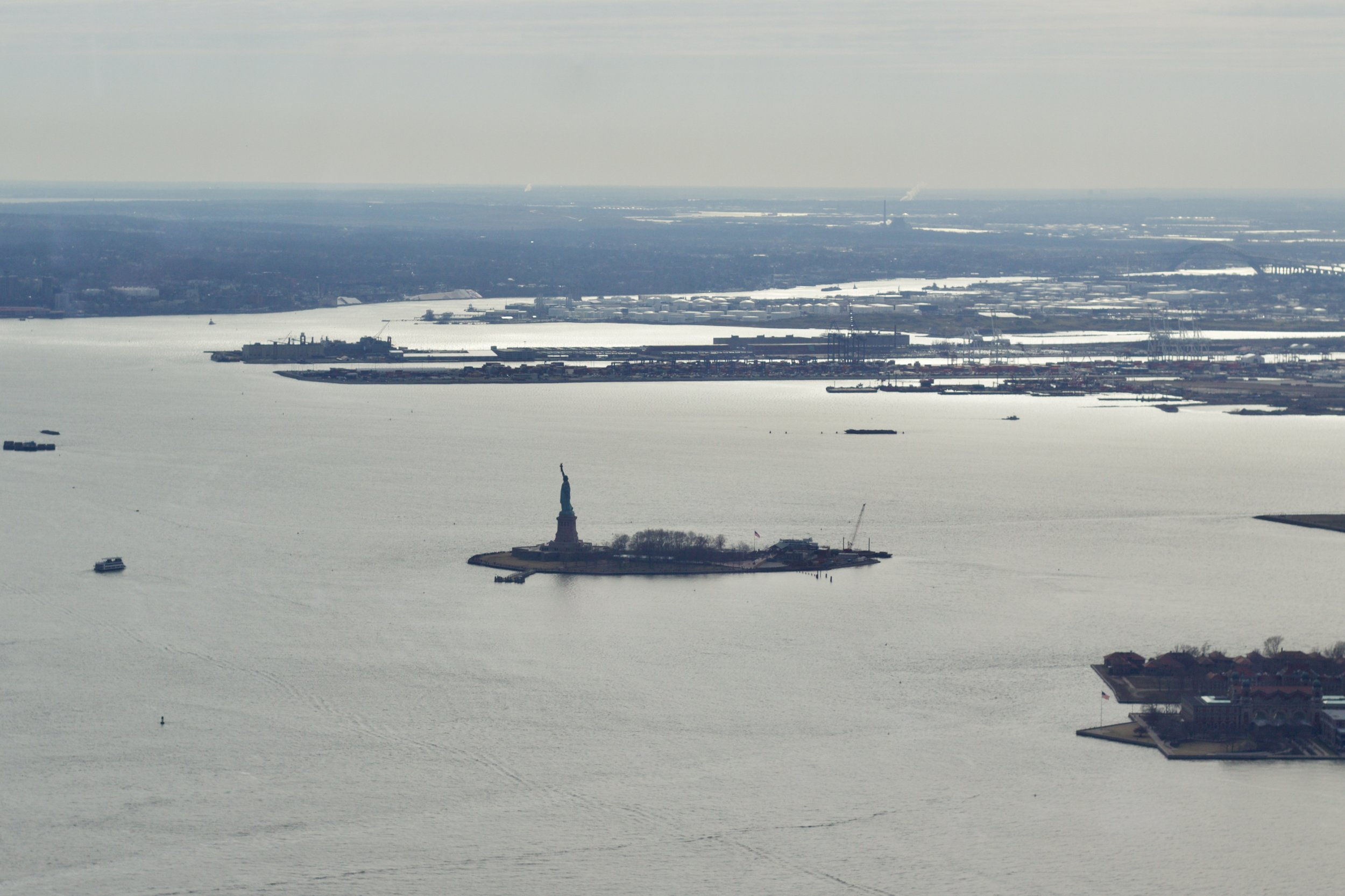Samantha McNeil Blog // View of the Statue of Liberty from the One World Observatory