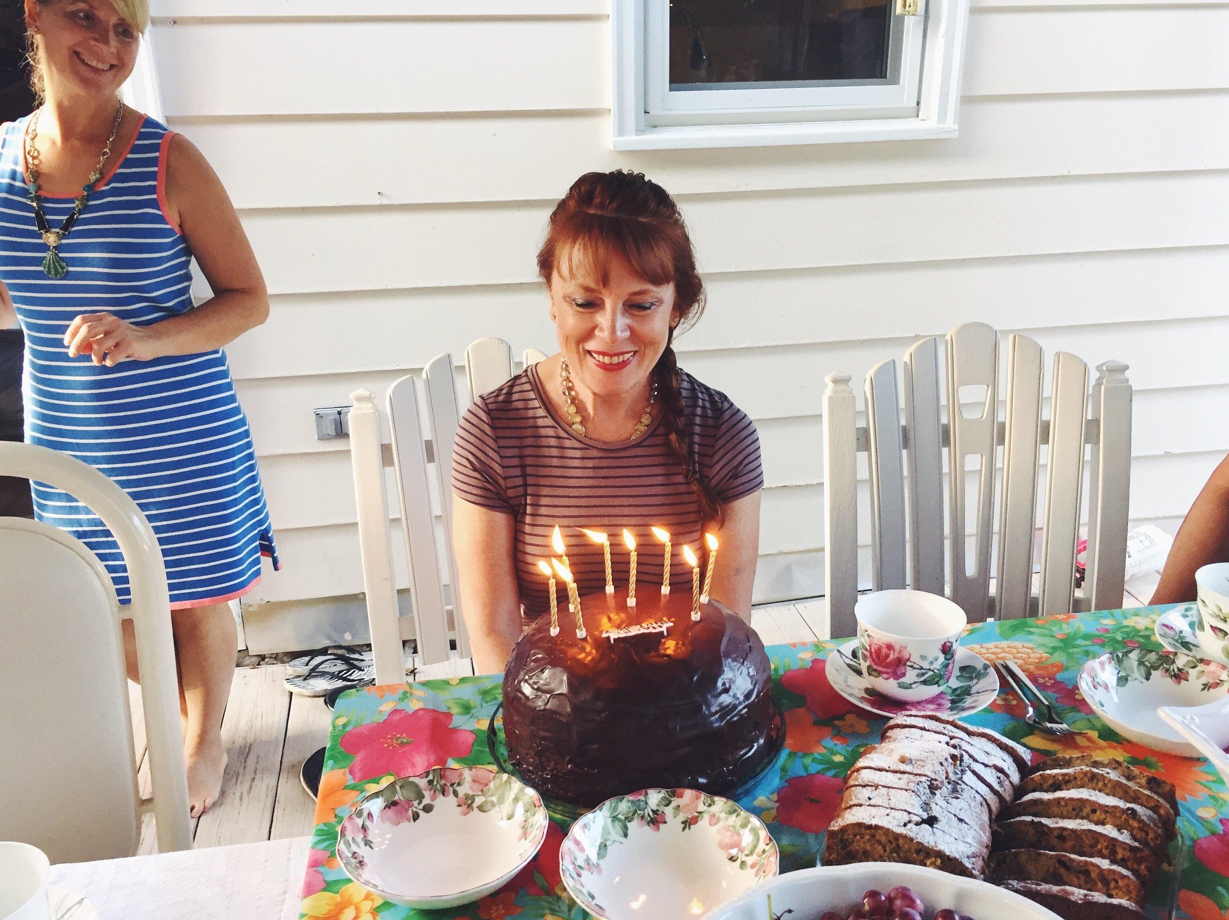 mama and her birthday cake