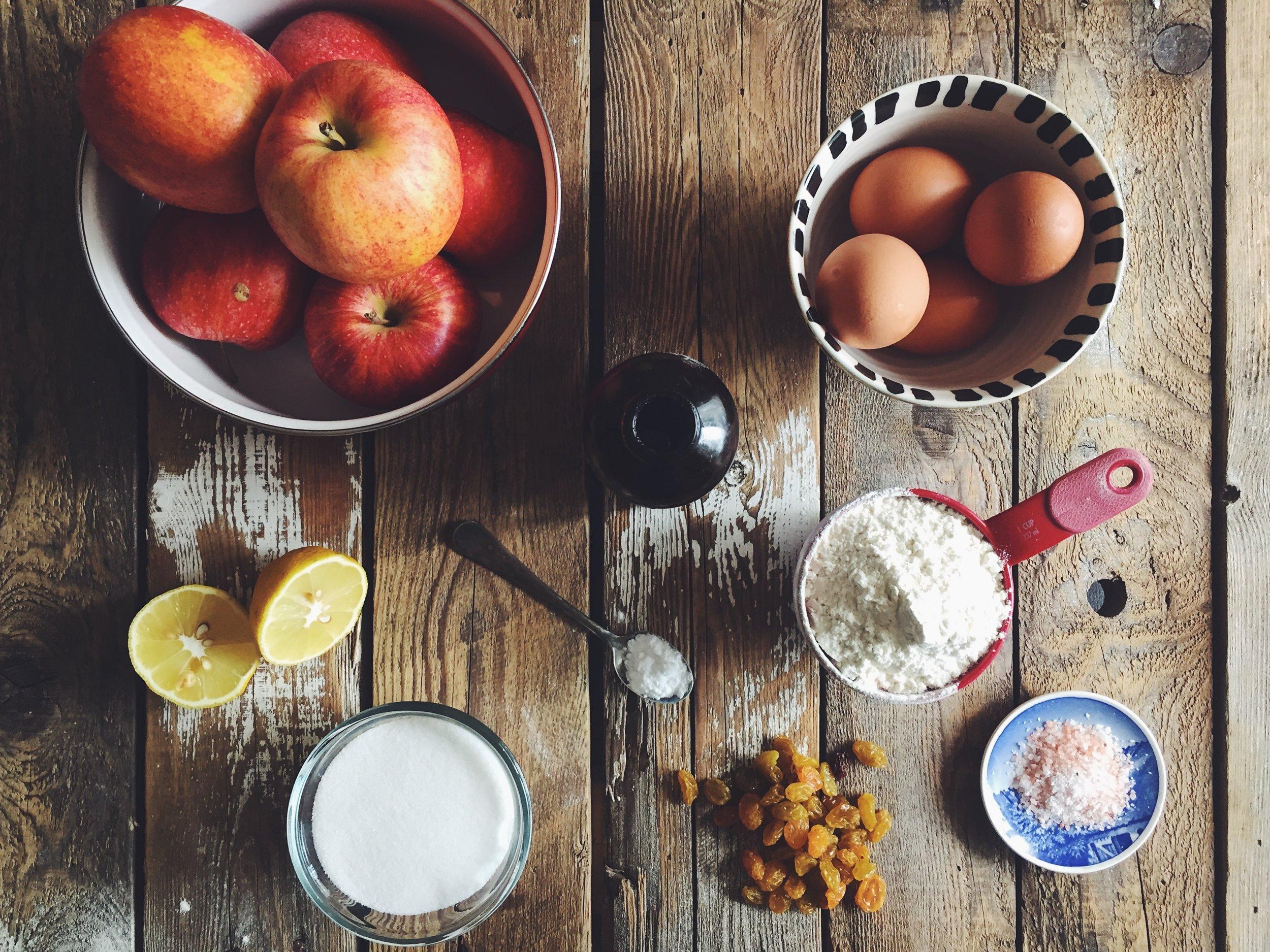 apple sharlotka ingredients