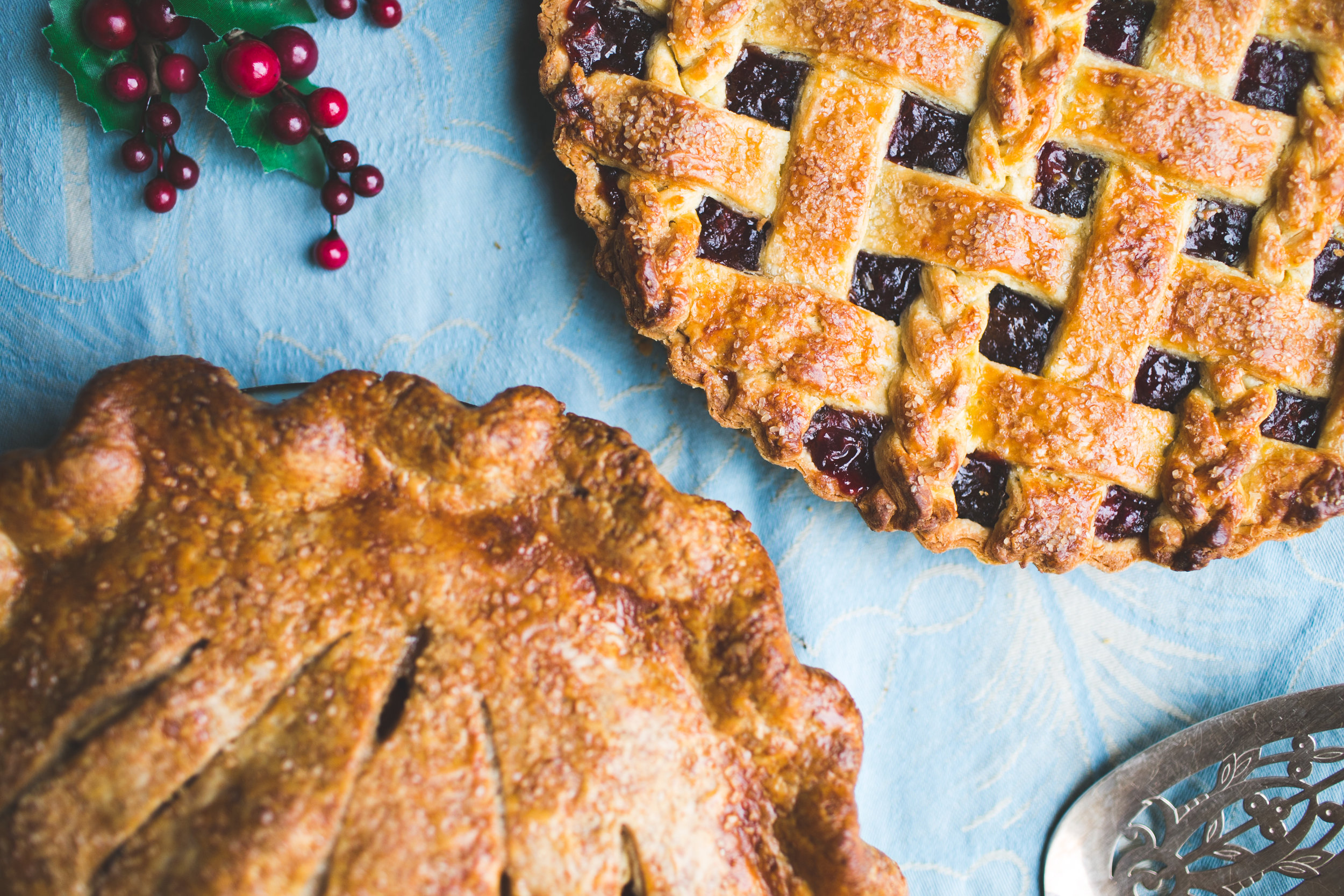 Classic Apple Pie and a Cranberry Lattice Tart