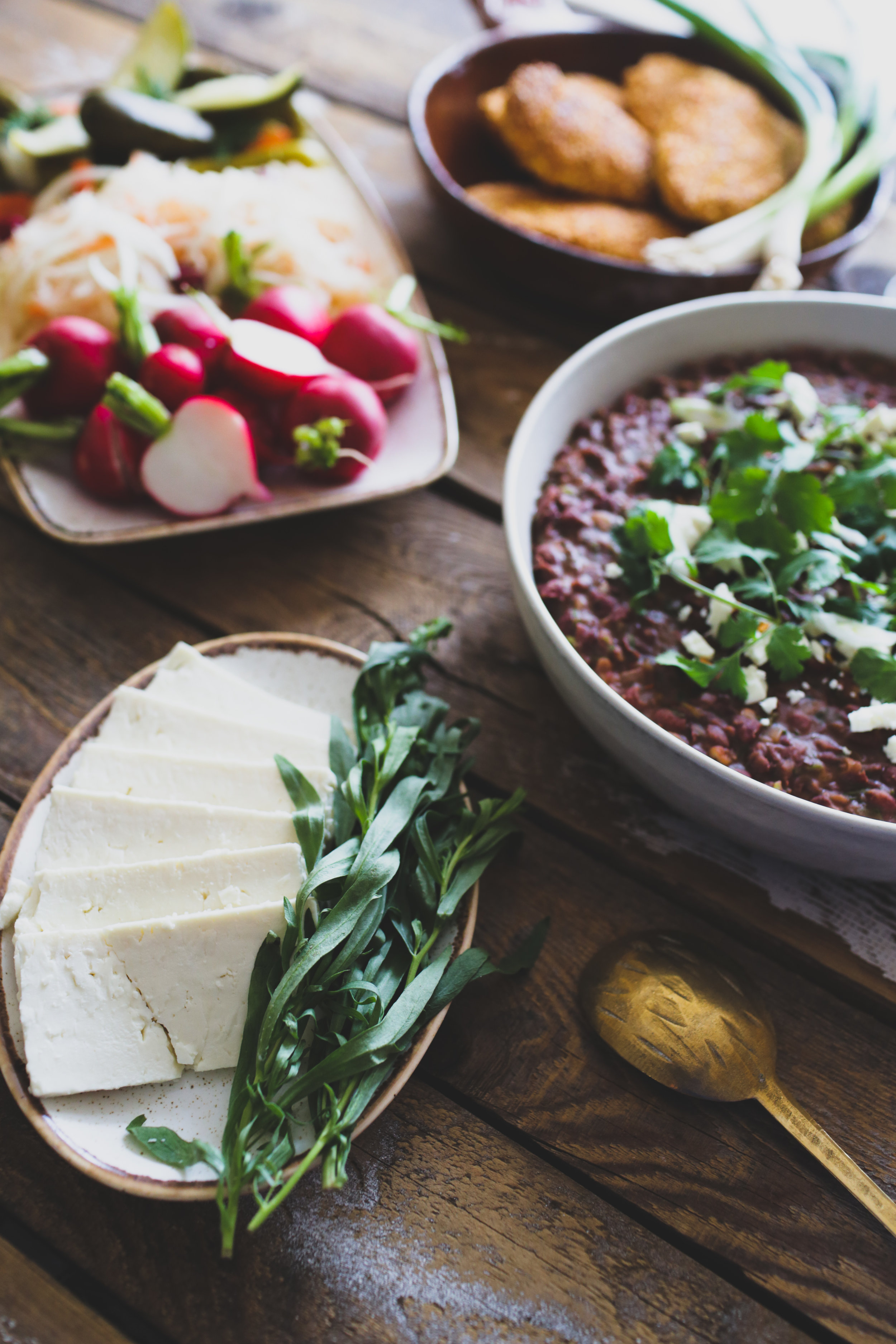 feta cheese and tarragon