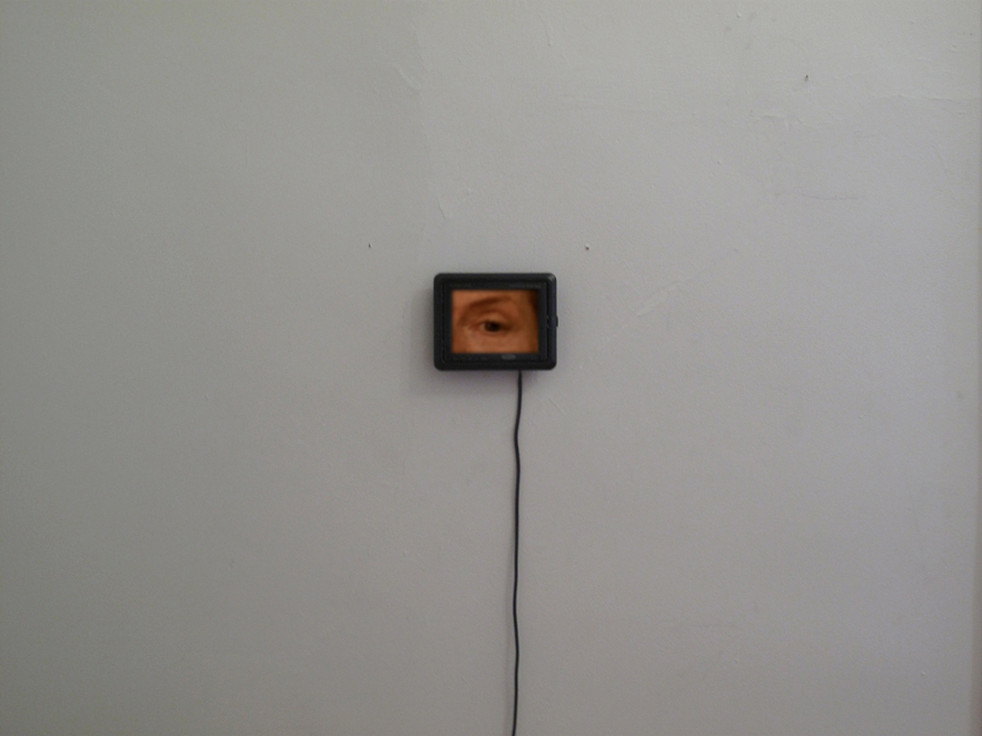 An Eye for An Eye - video installation, 10 mins, 5in monitor, 2010.png