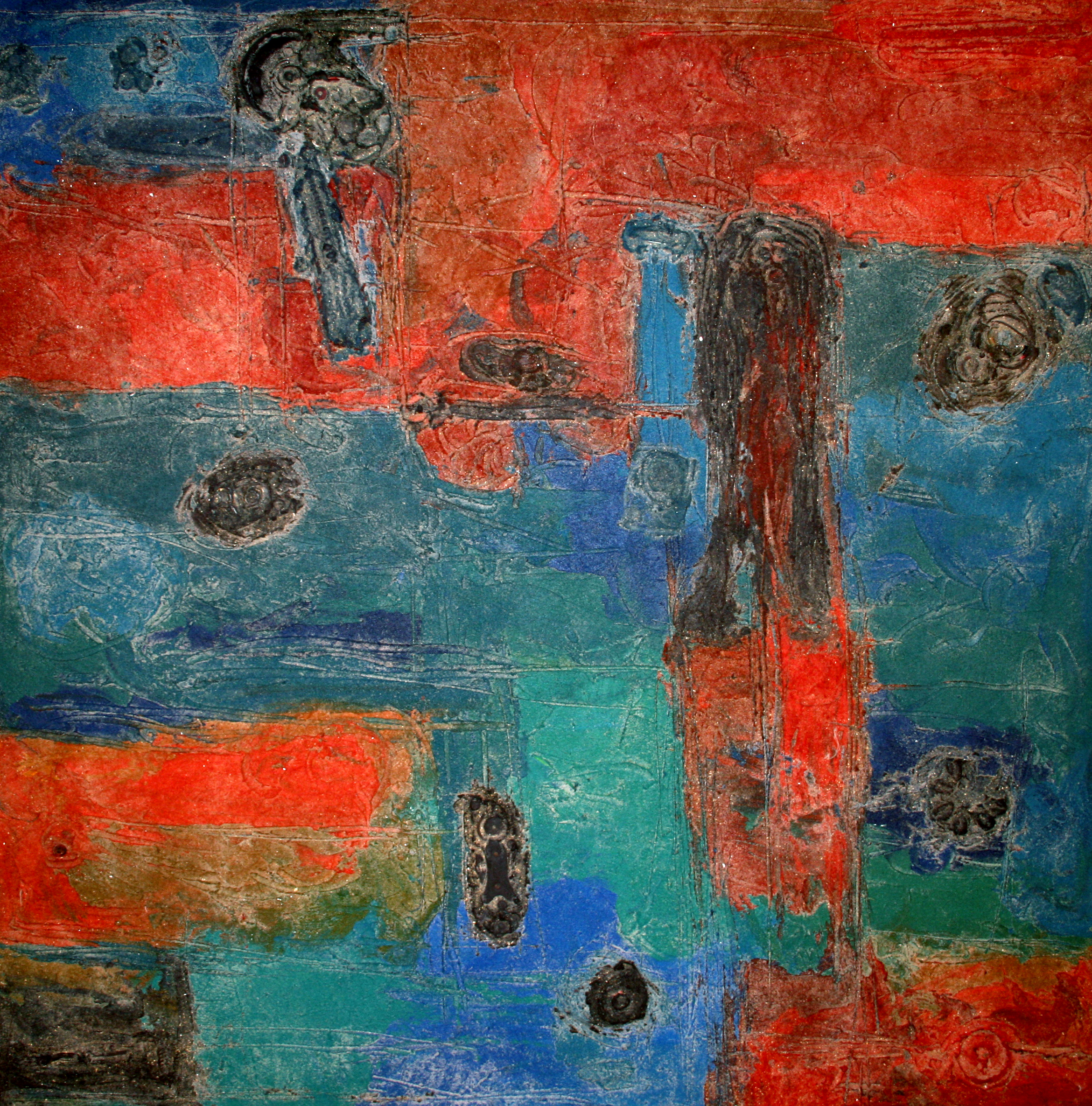 14A Untitled-14.48x48inch.Oil &mixed media on canvas.'08..jpg