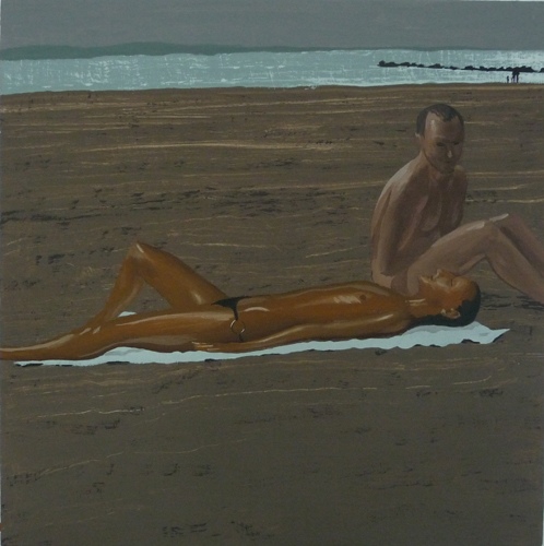 gennadibarbush_Beach, vinyl gouache on plywood panel, 16 x 16.jpg