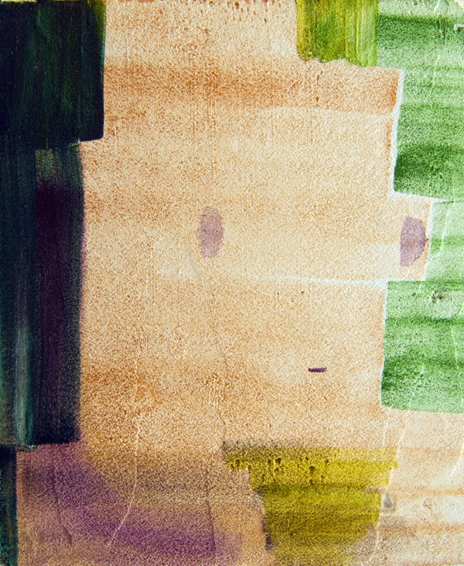 "Torso in Sunlight , 2016, Fresco, 10"" x 12"""