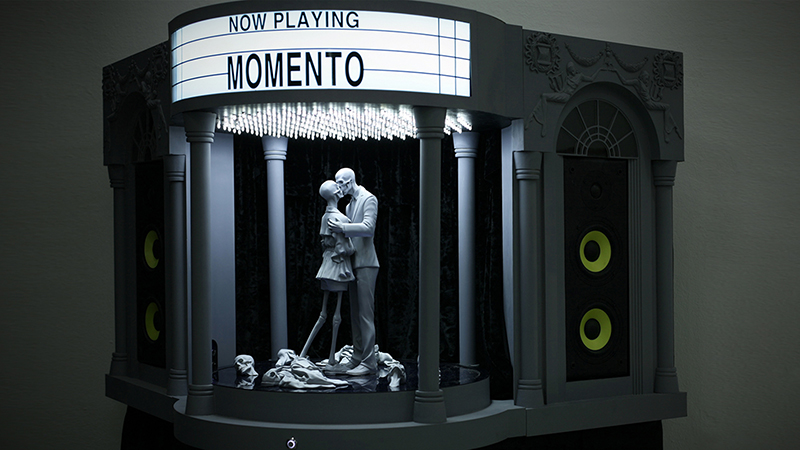 Theater Memento , wood, speakers, sensors, electric devices, motors and gears, 61x55x86 in, 2013