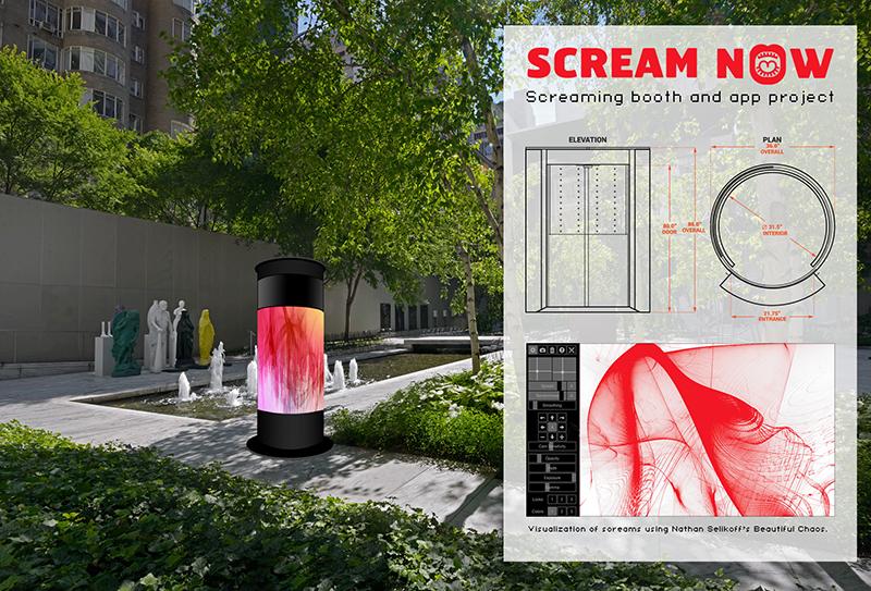 Scream Now (Screaming booth), 2017, Digital simulation