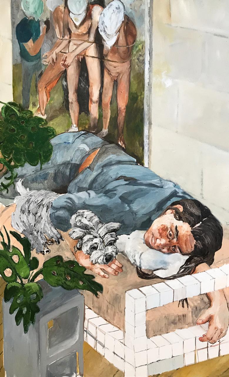 Retrato de Gabriela Garcia, 2018,  oil on canvas,  72 x 36 inches