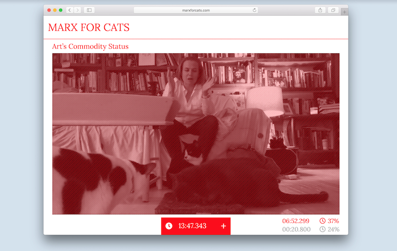 Marx for Cats, 2018, Online platform, dimensions variable.