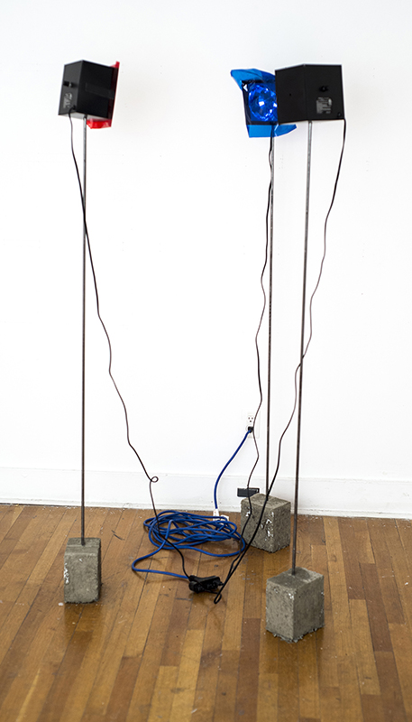 The feel of the police  concrete, steel, party lights  inches by 60 inches by 6 inches (each) 2018