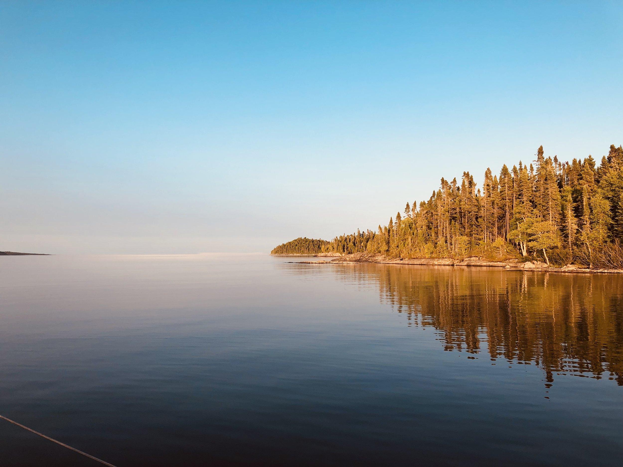 Anchored off Suzy Island, near the Canadian border