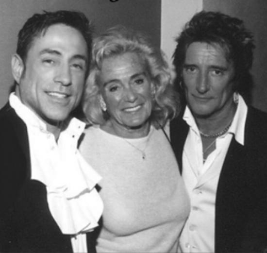 """Raymond Haldeman at his Palm Beach nightclub """"Eden"""" with Broadway Producer Terry Allen Kramer and Rocker Rod Stewart.    Photo: Palm Beach Post"""