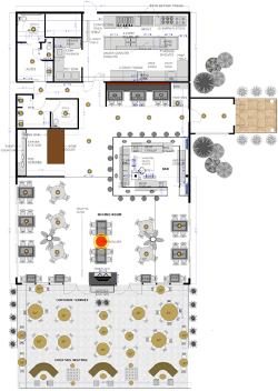 Restaurant Floor Plan & Design by Raymond Haldeman