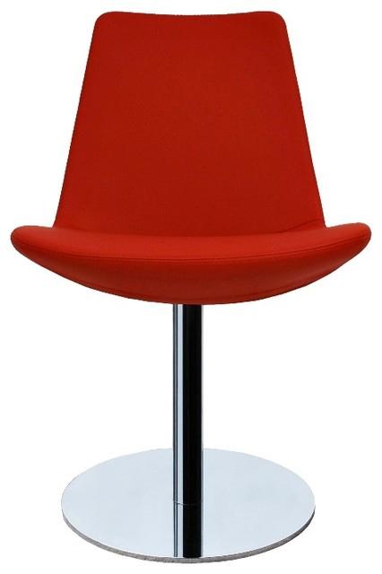 Blue Pedestaled Modern Restaurant Chair