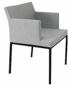 Chadri Chrome Legged Modern Restaurant Chair