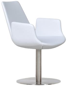 Bleu Modern Pedestaled Arm Chair