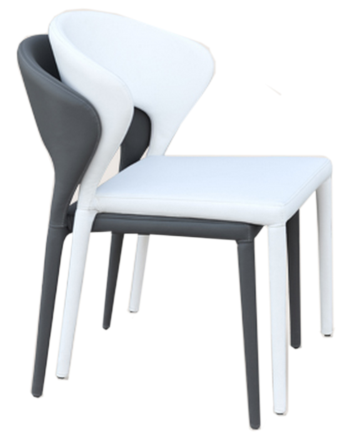 Modern Stackable Leather Restaurant Chair
