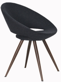 Displayed Above In: Gray Wool Fabric   Dimensions:  W: 24″  D: 21-1/2″  H: 29-1/2″, Seat Height: 17″ *Also Available in Matching Barstool