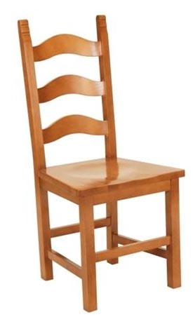 Alm Wood Ladder-Back Chair