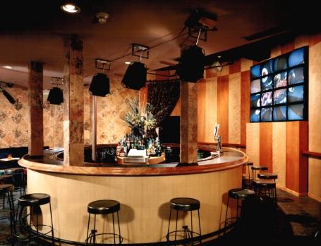 NYC Restaurant Designer Oval Bar