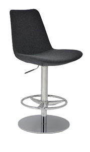 Displayed Above In: Orange PPM   Dimensions:   W: 23.5″  D: 22″  H: 34-43″, Seat Ht: 23-31″ *Matching Side Chair & Armchair Available