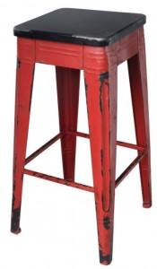 Vera Red Modern Rustic Barstool