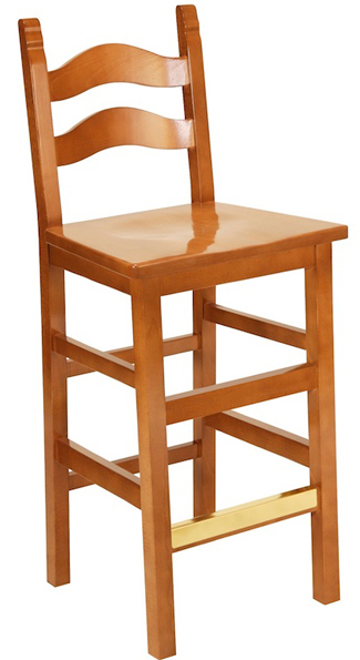 Alhma Traditional Wood Barstool