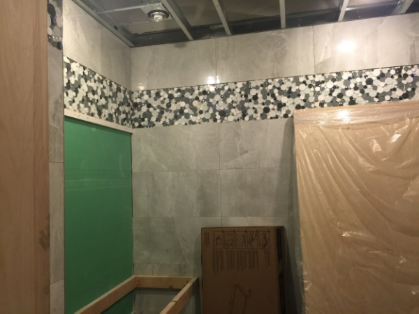 """Tile with Border 18"""" from Ceiling"""