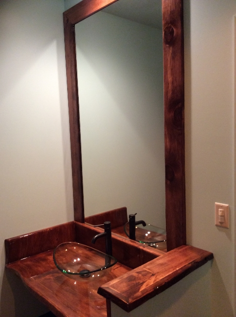 Restaurant Designer Hand Carved Wood Vanity