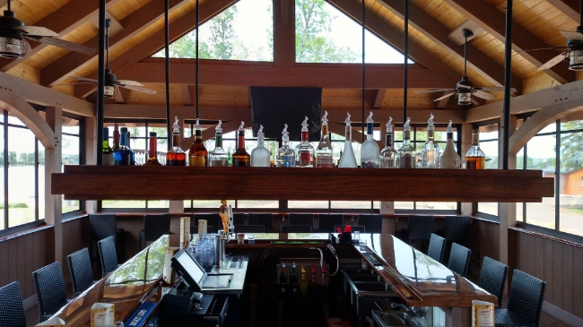 Restaurant Designer Floating Liquor Soffit