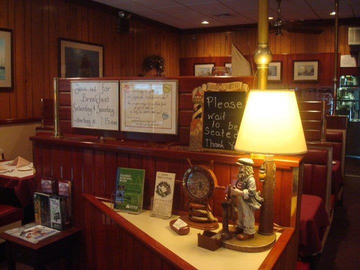 """BEFROE"" The Ships Inn resemble every other restaurant on Main St in Northport, LI, NY with shellacked wood paneling installed half a century ago."