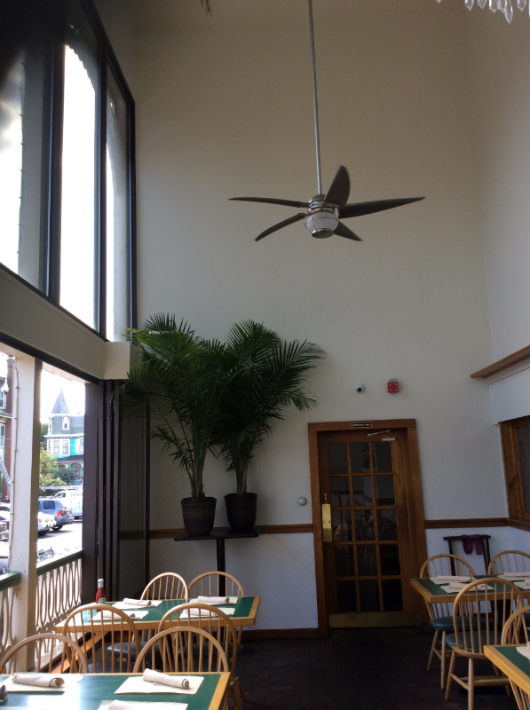 """""""Before"""", the sun room had the typical dated """"seafood house"""" look"""