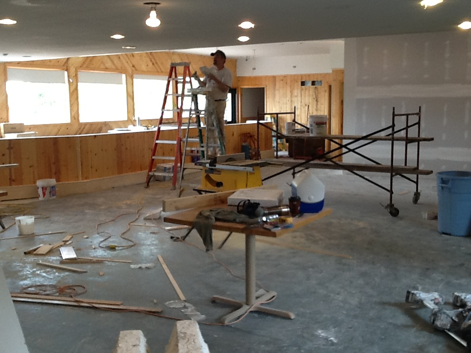 """""""Before"""" A complete gutting of the space was needed to upgrade the integrity of the building that was operating as a bar & restaurant since 1942."""