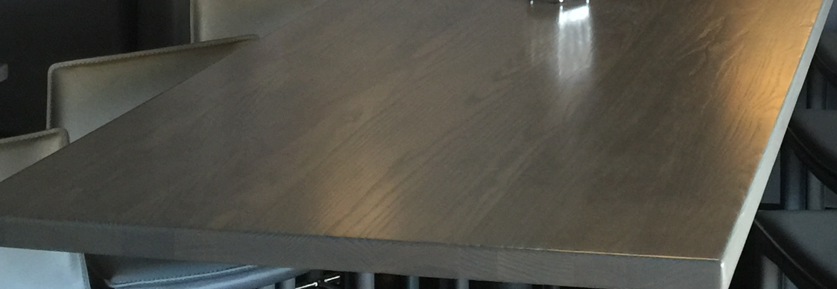 Transparent Gray Stained Ashwood Tables