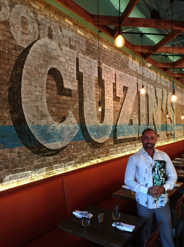 "Raymond Haldeman at the Grand Opening of his design ""Cuzin's Clam Bar"" in Marlboro, NJ in September 2016"