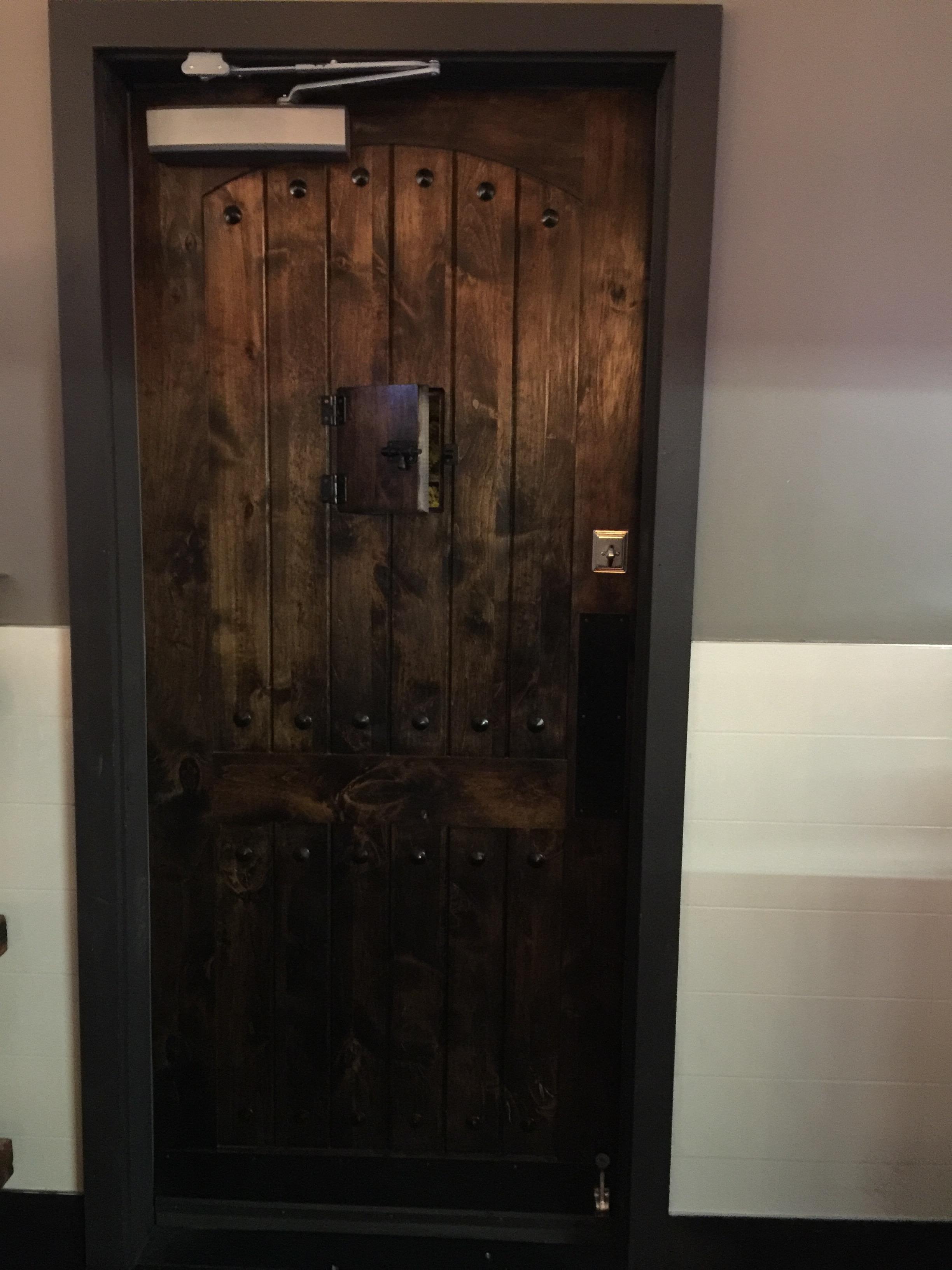 Custom Crafted Exit Door
