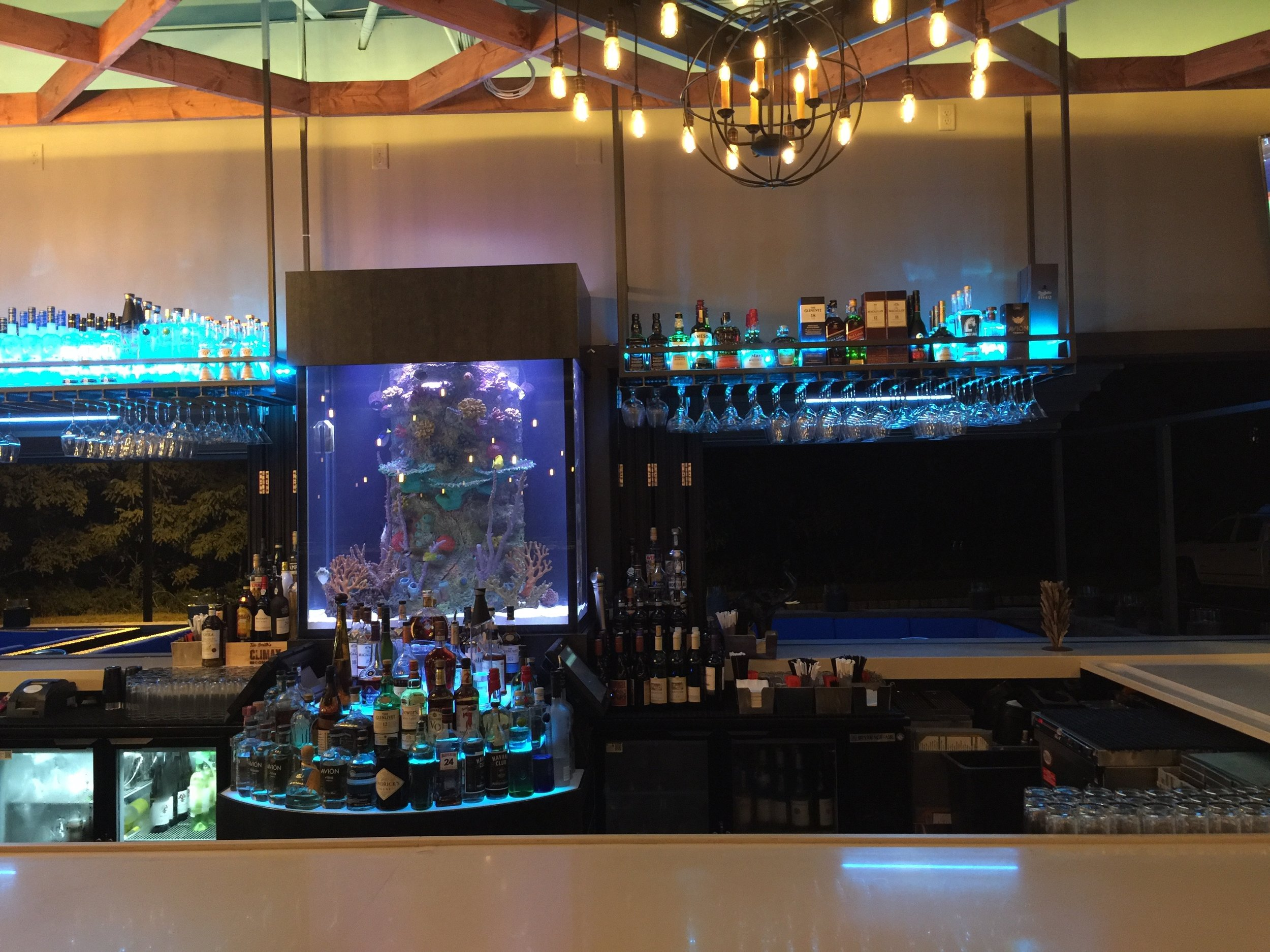 bar aquarium design
