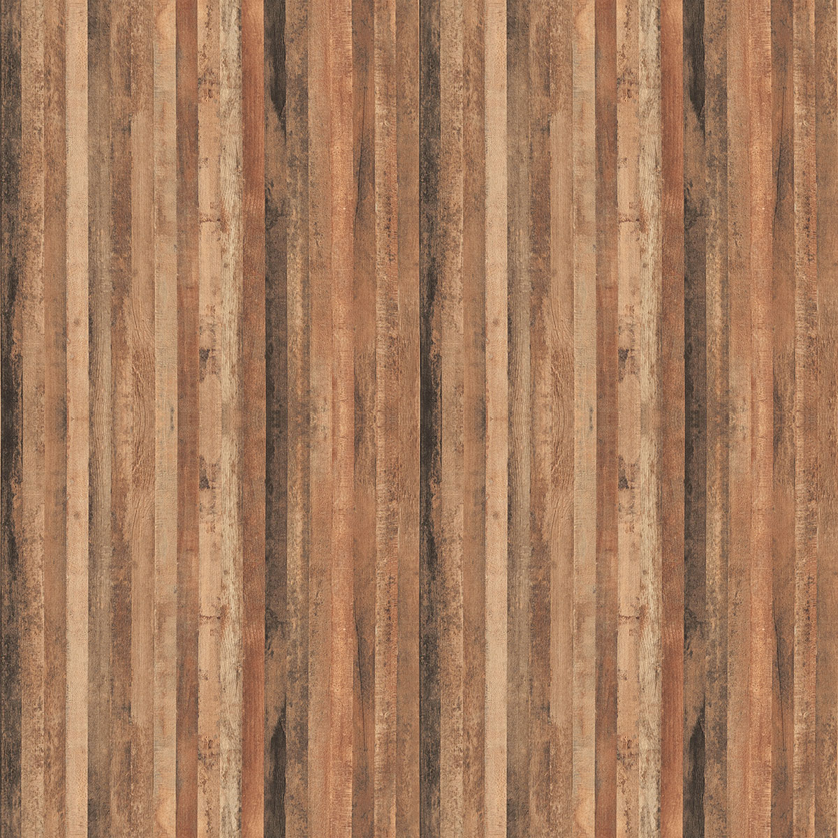 FORMICA TIMBERWOOKS 6318 (Vertical o  n Partition W  alls and Eating C  ounter S  upports by window...horizontal across Smoothy Service Station Face.