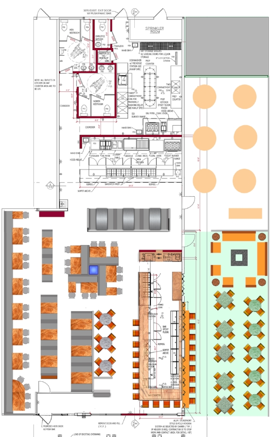 restaurant floor plan,