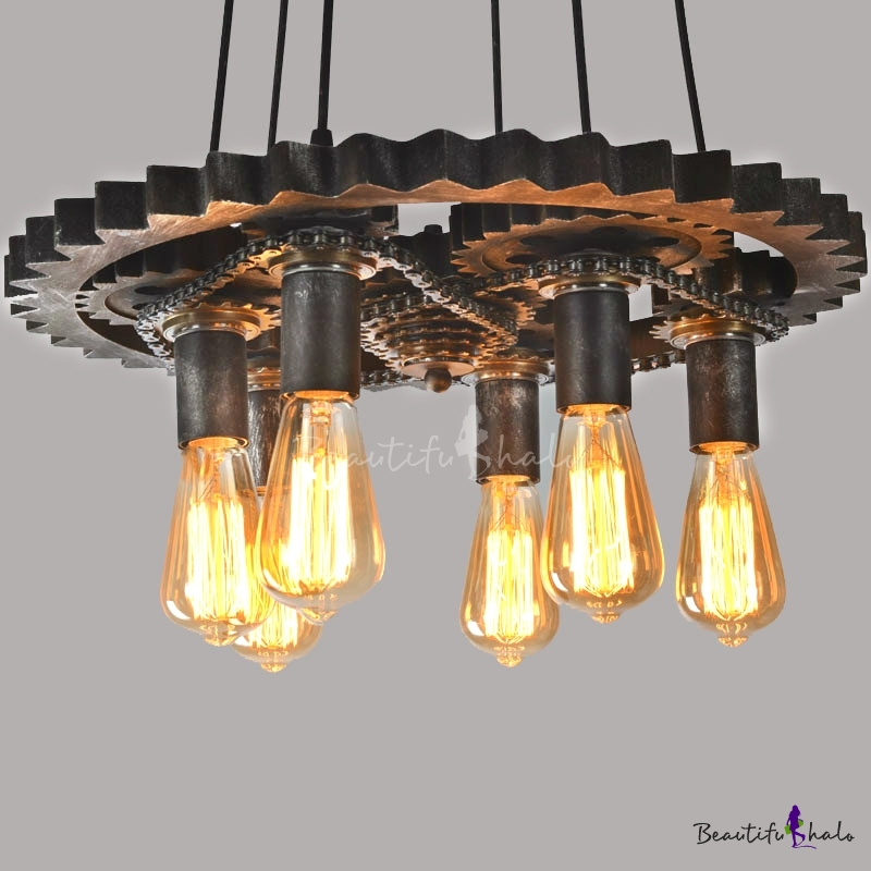 CHANDELIERS MOUNTED ON FLOATING SOFFIT