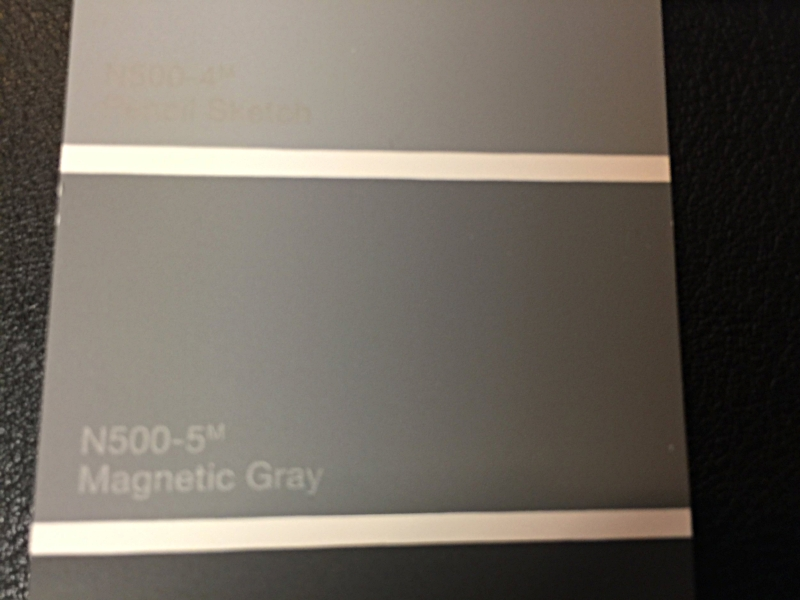"""Spray out Ceiling Color HOME DEPOT BEHR """"MAGNETIC GRAY N500-5 """"FLAT ONLY""""!!!"""