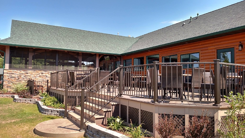 AFTER Restaurant Contractor & Designer Renovations  Timber Breeze Resort, Northwoods, WI
